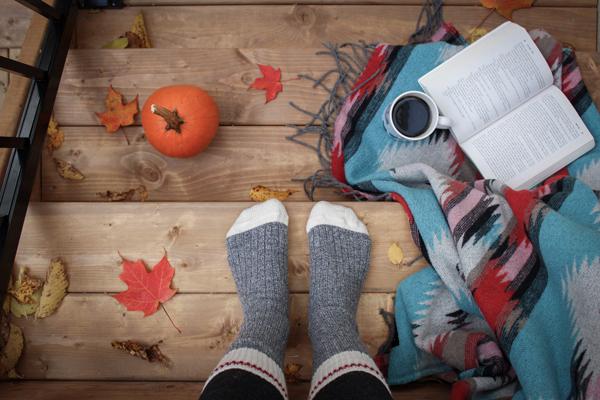 Pies en invierno con calcetines